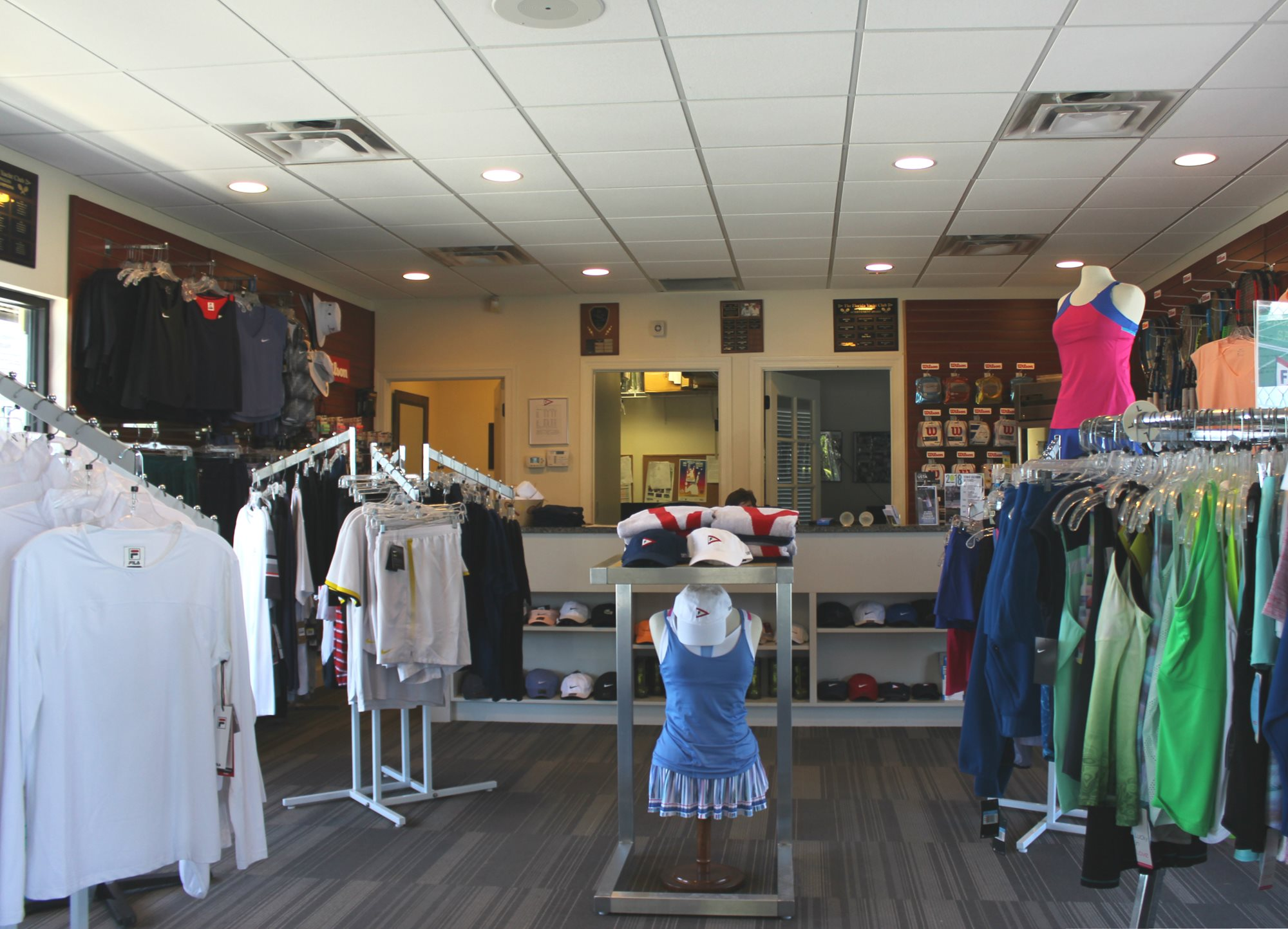 Inside of Pro Shop